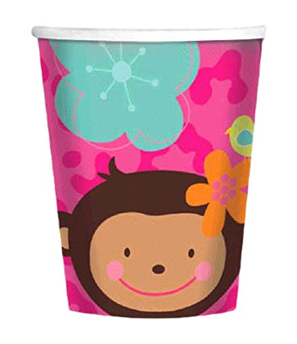 Amscan Sweet Monkey Love Birthday Party Paper Cups