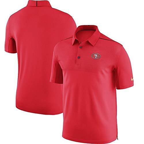 Nike Men's Dri-Fit San Francisco 49ers Sideline Elite Coaches Team Color Performance Polo Scarlet Size L (49ers Coaches Mens San Francisco)