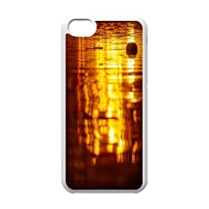 Iphone 5C Case, reflection of light Case for Iphone 5C White