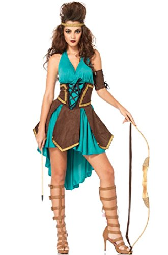 [8eighteen Celtic Warrior Feisty Barbarians Warrior Dress Outfit Adult Costume] (Barbarian Warrior Costume)