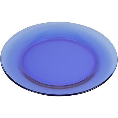Mainstays 7.5 Round Blue Glass Dinnerware Salad Plate Set, Set of 6 Review
