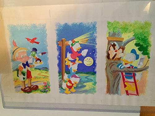 Disney Rare Original sketch and coloured Original art 1980s