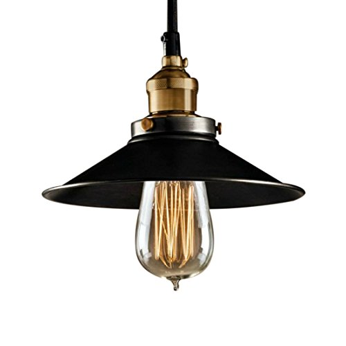 Lighting Light – TOOGOO(R) Garage Metal Ceiling Light Vintage Retro Chandelier Pendant Lighting Dining Room