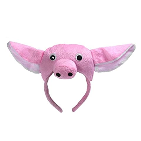 Animals Cute Headband Party Costume Ear Headband Cosplay (Pig) - Pink Pig Hat