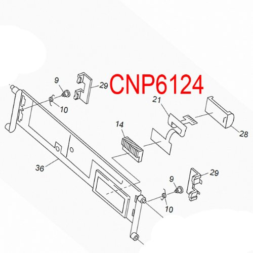 Amazon Com Pioneer Cnp6124 Flex Ribbon Cable For Car Audio Cd