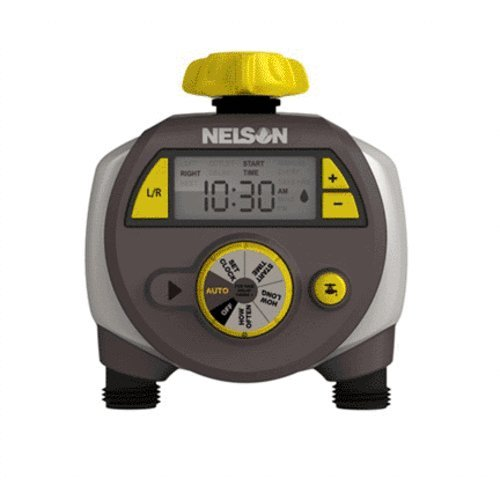 Nelson Dual Outlet Electric Water Timer with Large LCD Display