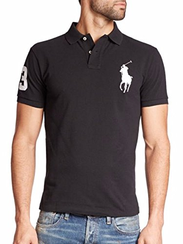 Polo Ralph Lauren Big Pony Men's Custom Fit Mesh Polo Shirt, (XS, Polo - Black Friday Polo Ralph Lauren