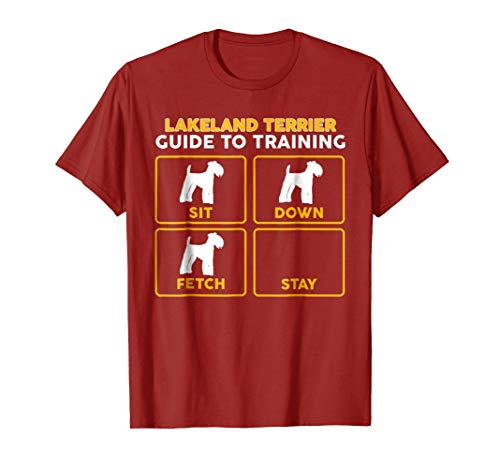 Mens Lakeland Terrier T-Shirt | Funny Guide To Training 2XL Cranberry