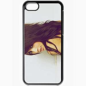 Personalized iPhone 5C Cell phone Case/Cover Skin Alie Layus Charming Brunette Black