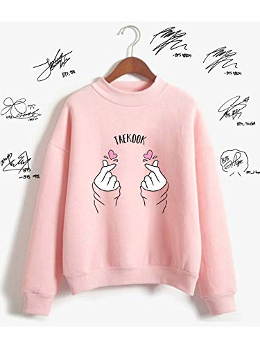 The Incredible BTS TaeKook VKook Couple Shipper Kim Taehyung vs Joen Jungcook Heartue Heart Finger K-Pop Sweater Sweatshirt by The Incredible BTS