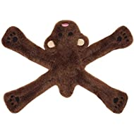 Doggles Plush Penta Dog Toy, Brown, Bear