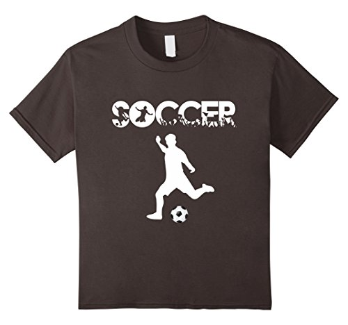 Kids Soccer T-Shirt Cool Player Futbol Lovers xmas Gift Top Tee 10 Asphalt