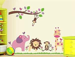 ملصق جداري قابل للإزالة بتصميم حيوان للأطفال لتزيين المنزل ملصقات جدارية ملصقات ملصقات