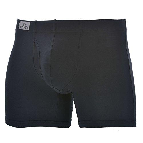 SHEATH 3.21 - Men's Dual Pouch Fly Underwear (Blackfly, Large)