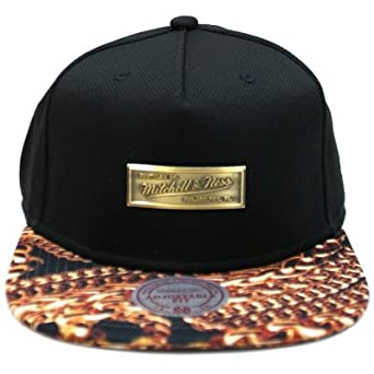 Mitchell Ness Snapback CAP-  Metal Badge-Black   gold  Amazon.co.uk ... 64a41058050b