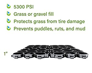 """TRUEGRID ECO (1"""" Depth) Permeable Pavers, (DIY) Driveway-in-a-Day, Patio, RV Pad, Drive-On Grass & Gravel (18-pack) from TRUEGRID Paver"""