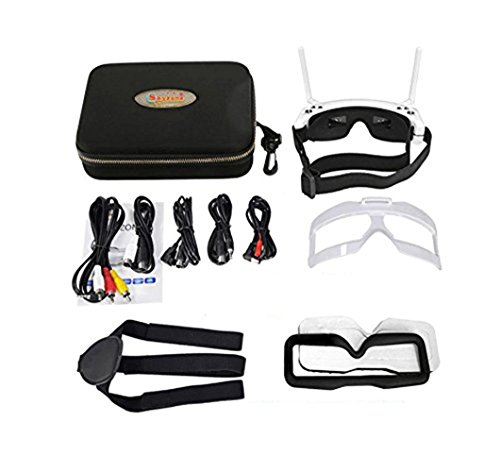 Skyzone SKY02S V+ 3D 5.8G 48CH FPV Goggles Video Glasses Tracker Head Tracking HDMI-IN Channel DVR (No Transmitter No Camera ) - White