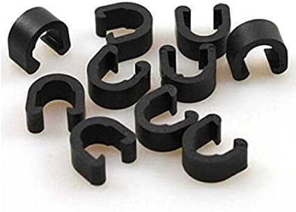 10 X MTB BMX Road Mountain Bike Bicycle Brake Cable Guides Hose C-Clips EW