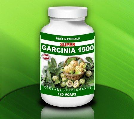Meilleures Naturals, SUPER GARCINIA 1500 (Garcinia cambogia Extract 500 mg par gélule) - 120 Capsules Veggie