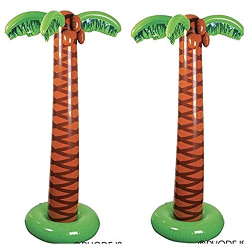 Palm Tree Decoration (Rhode Island Novelty 66 Inch Inflatable Palm Trees Set of)