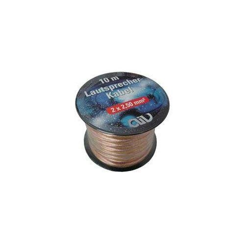 AIV Lautsprecherkabel Mini-Spule 2x2,50 mm/² 20 m OFC-Cu transparent