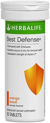 Best Defense 10 Effervescent Tablets Naturally Flavored Immune System Booster with Echinacea Vitamin C