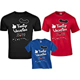 Disney Family Vacation 2019 Mickey Minnie Matching Shirts L Adult Black