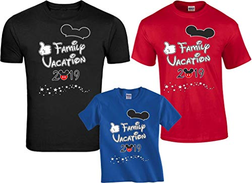 Disney Family Vacation 2019 Mickey Minnie Matching Shirts 12 Months Onesie Red