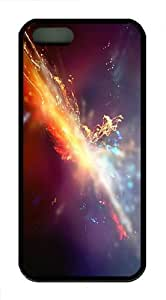 amazing covers slash glow art TPU Black Case for iphon 5/5S