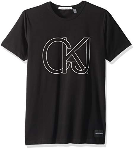 Calvin Klein Men's Classic Ck Jeans Logo Short Sleeve Crewneck T-Shirt, Black, - Jewellery Calvin Klein