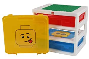 IRIS LEGO 3-Case Workstation and Storage Tabletop with 1 Base Plate