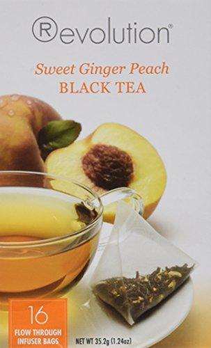 (Revolution Tea Sweet Ginger Peach Tea, 16-Count Teabags 2 Pack)