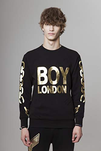 BOY LONDON Silver Chain Printed on Sleeves Sweatshirt-Black-Gold, Medium - BG4TL021 by BOY LONDON (Image #2)