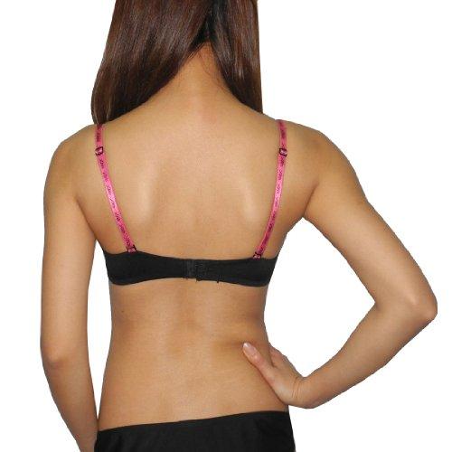 XOXO Womens Lingerie Padded Underwired Soft Cup Bra / Underwear Black