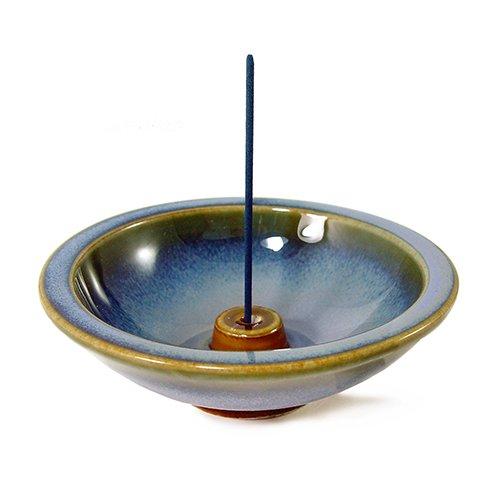Shoyeido's Sky Blue Round Ceramic Incense Holder