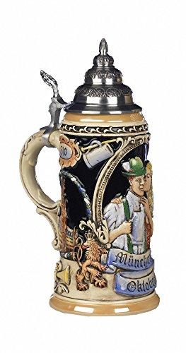 German Beer Stein 200 years Oktoberfest Munich Stein 0.75 liter tankard, beer mug KI 202 0,75L by KING (Image #1)