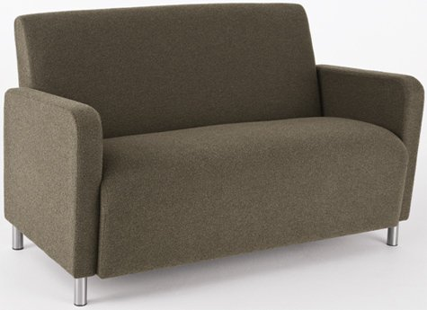 Lesro Ravenna Q1501G8 Loveseat fabric Transport Green finish Black