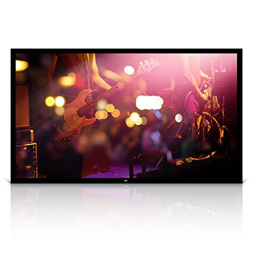"Pyle 100"" Matt White Home Theater TV Wall Mounted Fixed Flat Projector Screen - 100 inch 16:9 Full HD Projection - Easy to Set Up for Room Video, Slideshow, Movie / Film Showing - PRJTPFL102"
