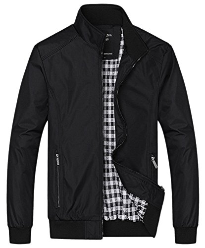 Xipai Men's Casual Zipper Bomber Jacket Active Lightweight Softshell - Jacket Office