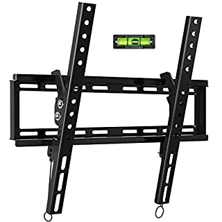 """Tilt TV Wall Mount Bracket for Most 32-55 Inch Flat Screen, Curved TVs - BLUE STONE Universal TV Mount with VESA up 400x400mm,Loading Capacity 66 lbs, Fits 8"""",12"""",16"""" Studs"""