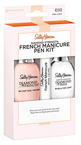 Sally Hansen Diamond Strength French Manicure Pink-A-Boo Kit (Best French Manicure Set)