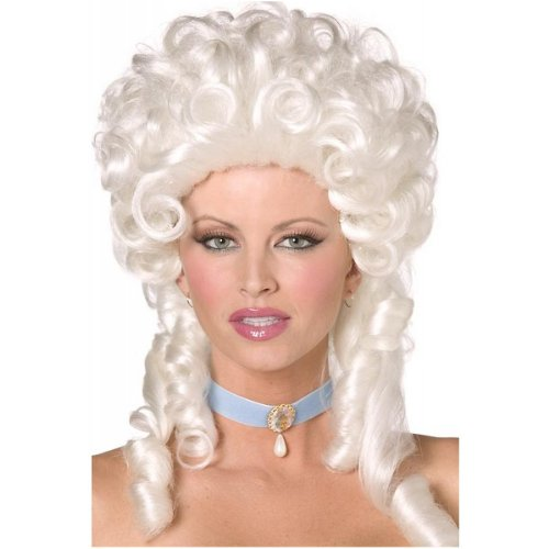 Baroque Wig (Smiffys Women's Baroque Wig, White, One Size)
