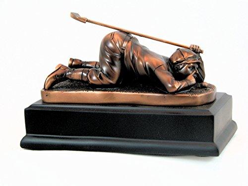 Young golfer bronze sculpture (Golfer Golf Sculpture)