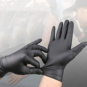 GUOYIHUA Guantes desechables de nitrilo: industrial extra grueso elegante sin polvo S//M//L//XL 20 piezas