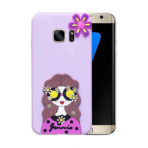 Funda para Suave TPU del Protector Caramelo QianYang S7 Carcasa del Color Galaxy Galaxy Fundas Samsung Sandía Belleza Pintura S7 5xqF4vp1w