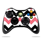 Protective Vinyl Skin Decal Cover for Microsoft Xbox 360 Controller wrap sticker skins Black Pink Chevron