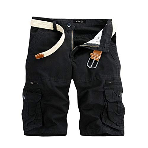 Muramba Clearance Pants Men's Casual Solid Pocket Outdoors Work ()