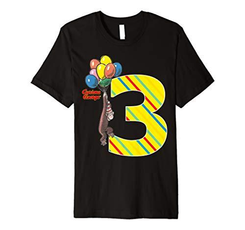Curious George Vintage 3rd Birthday Balloons Premium -