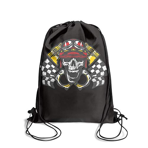 g Bags Skull Ghost Flag Race Adjustable Durable Stylish Sports Backpack Unisex ()