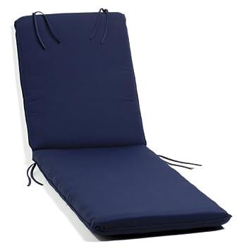 Oxford Garden Chaise Lounge Cushion, Navy Blue